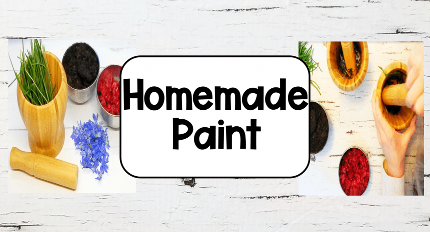 Homemade Paint from Nature for Kids