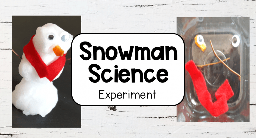 Melting Snowman Easy Science Experiments