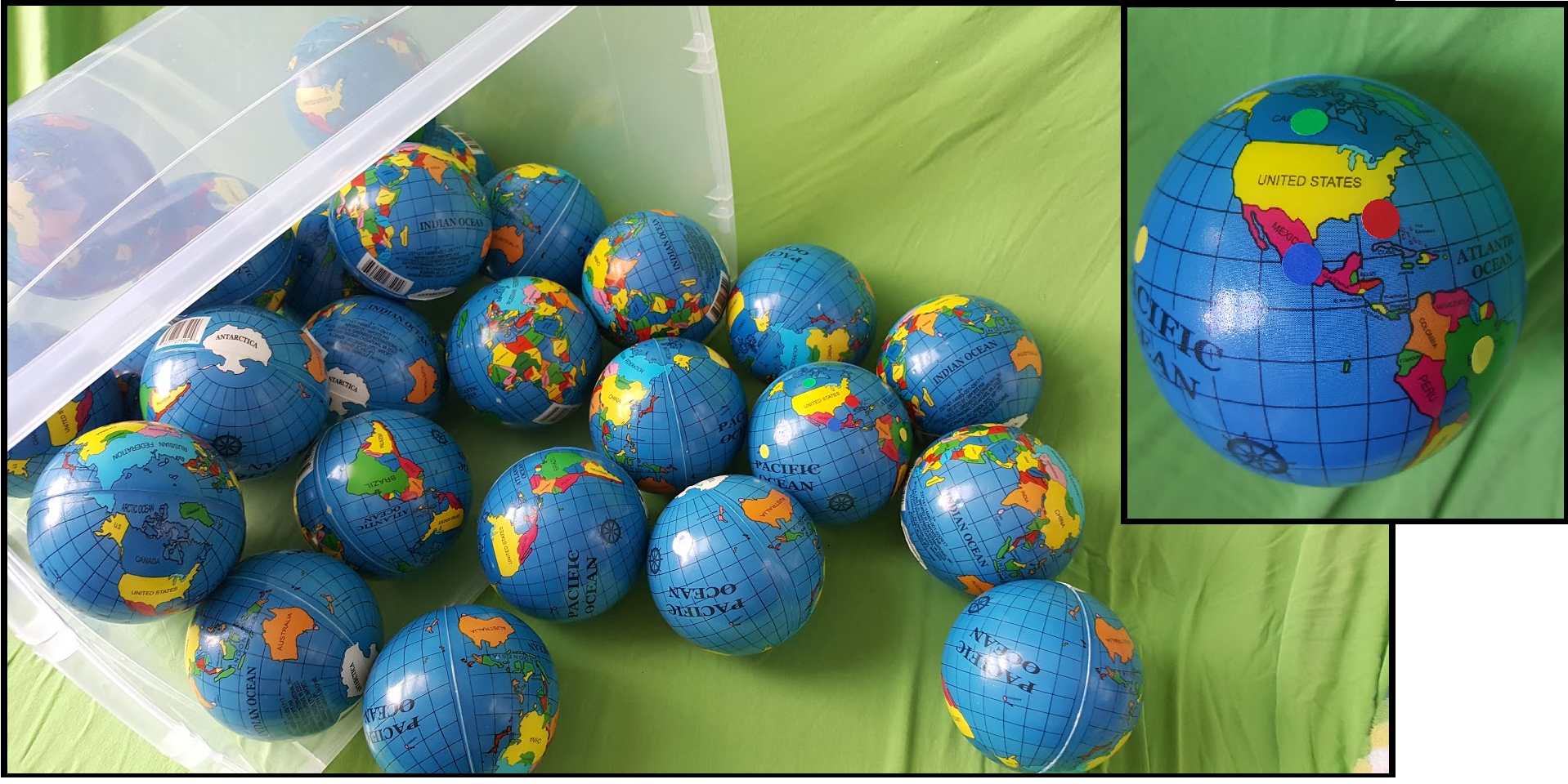 Map Skills – Globe Balls