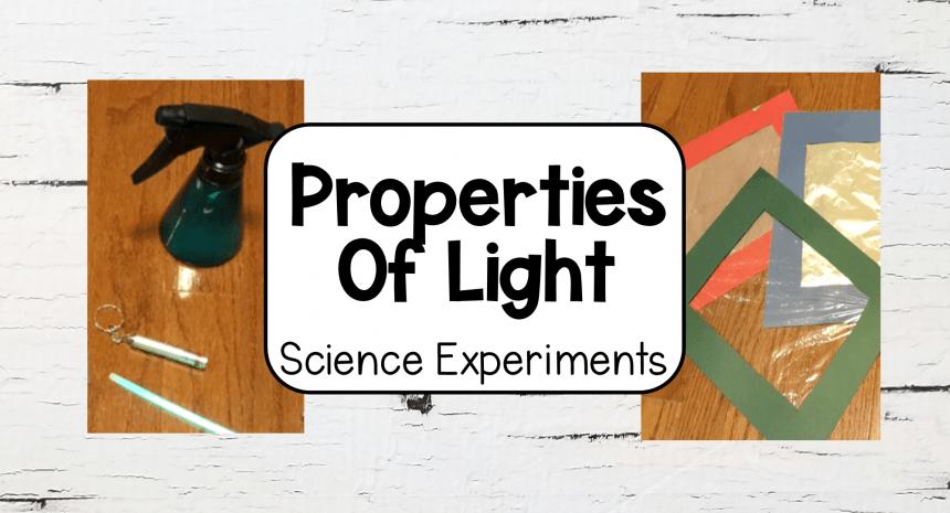 STEM Activities Properties of Light Activities