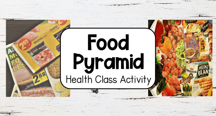 Food Pyramid Plate Activity