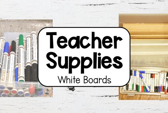 School Supplies – Dry Erase Boards