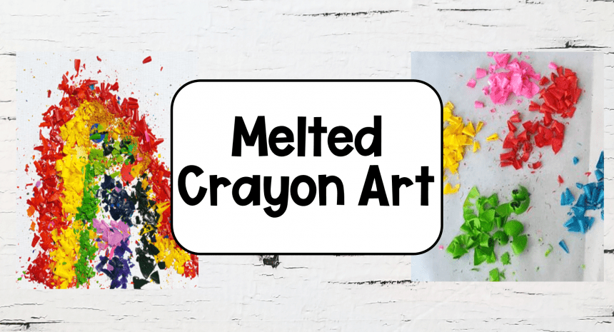 Melted Crayon Art Ideas for Kids