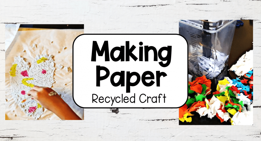 Recycled Crafts Making Recycled Paper