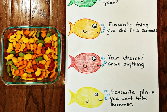 First Day of School Activity – Goldfish Icebreaker
