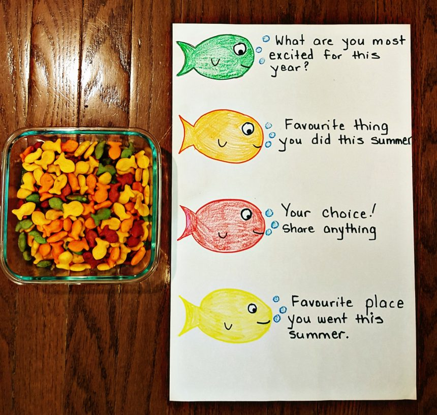 First Day of School Activity – Goldfish Icebreaker