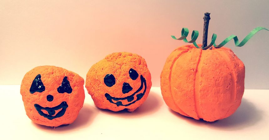 Halloween Crafts – Recycled Pumpkins