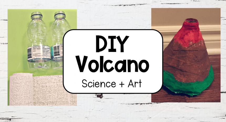 Easy DIY Volcano for Kids Science and Art
