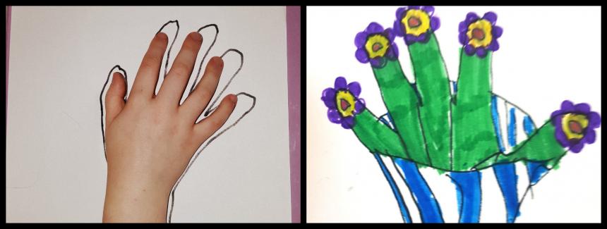 Handprint Art – Vase