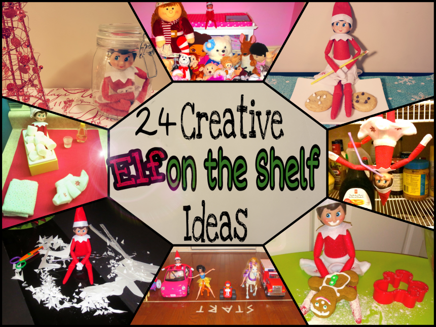 Elf on the Shelf Ideas- 24 Days of Fun