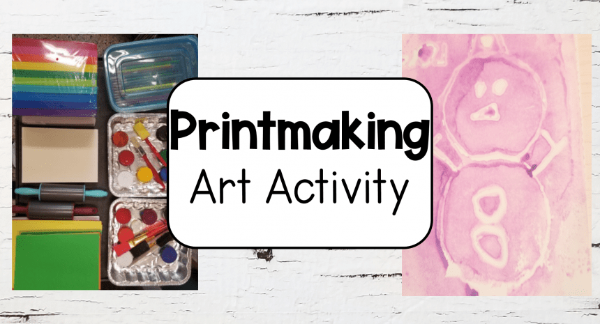 Craft Ideas for Kids Printmaking
