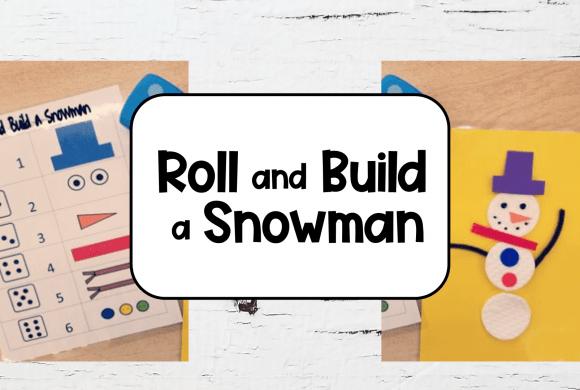 Roll and Build a Snowman Fun Kindergarten Worksheets