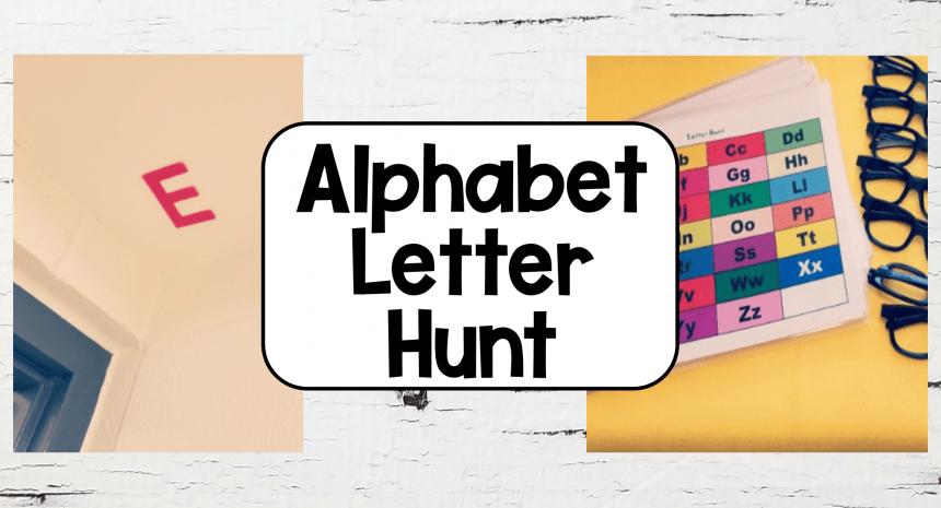 Letter Games Alphabet Hunt Games