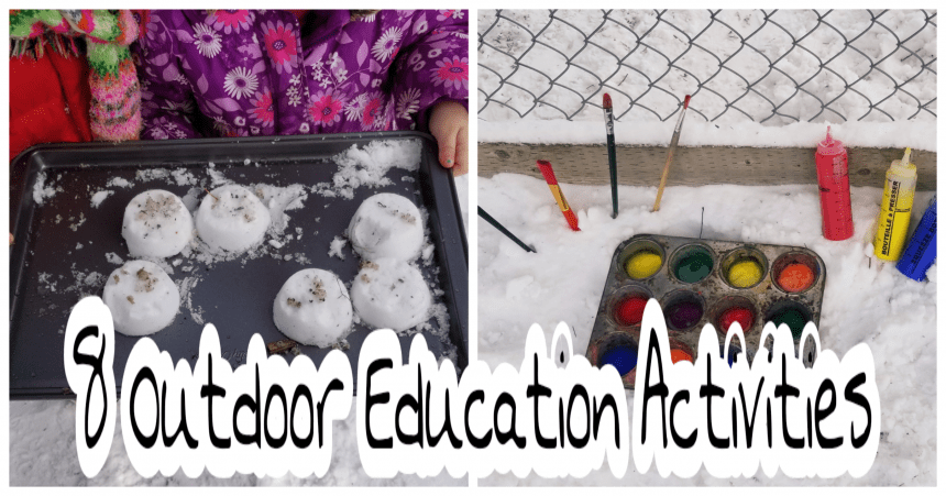 Winter Outdoor Education Activities