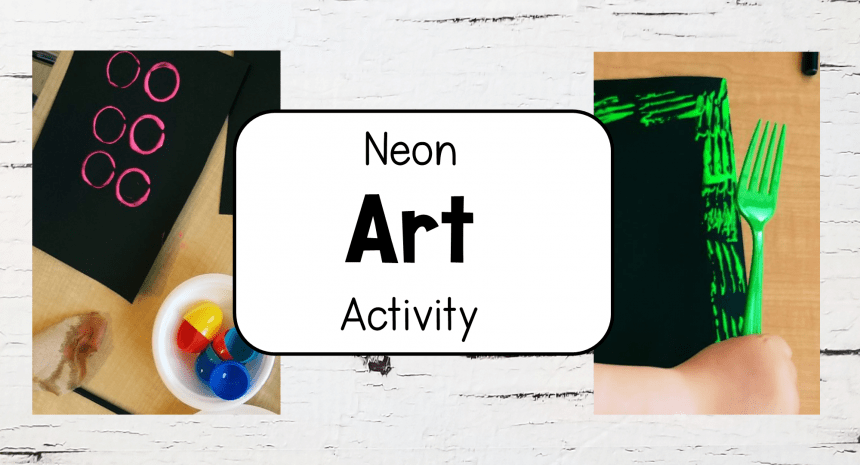 Neon Glow Painting for Kids