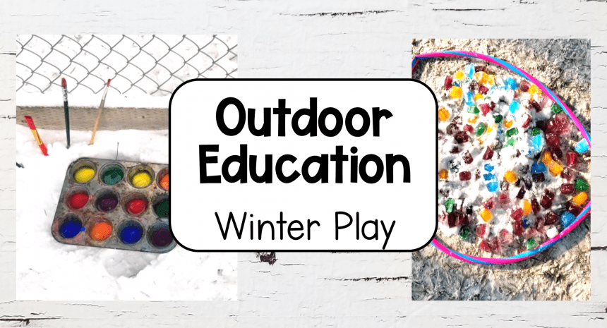 8 Easy Winter Outdoor Education Activities