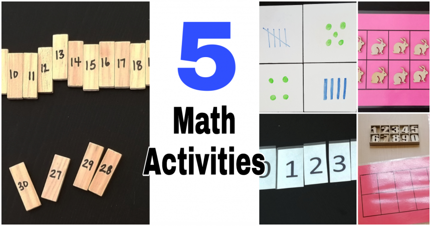 5 Math Activities for Kids