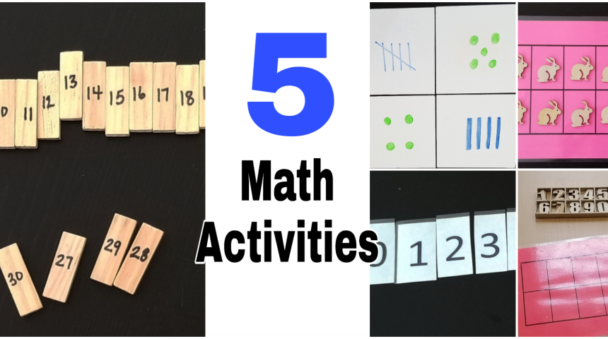 5 Math Activities for Kids