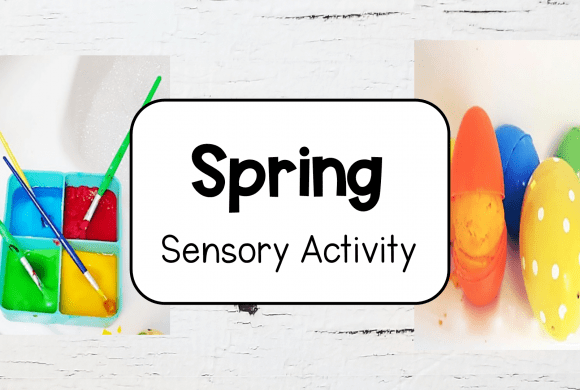 Spring Sensory Bath for Kids