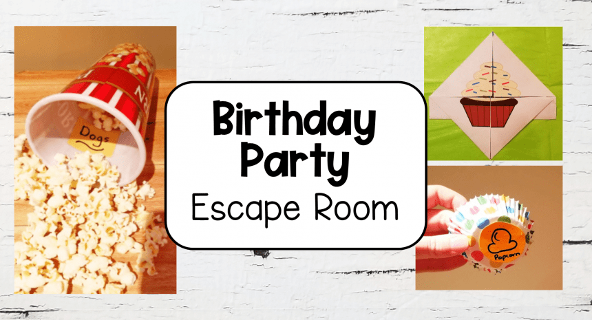 Birthday Party Escape Room for Kids at Home