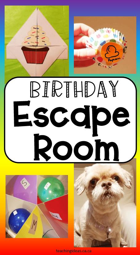 birthday party escape room