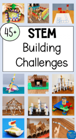 If you have blocks in your house, you need to try out these STEM building challenges with kids! Printable challenge cards available.