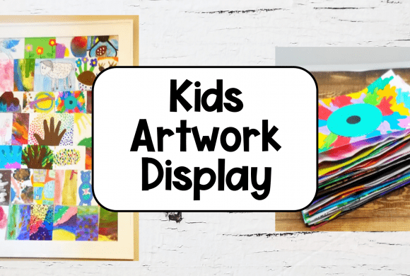 Easy Way to Store and Display Kids Artwork
